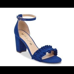 Cute cobalt blue block heels